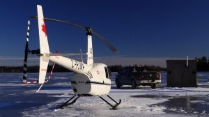 A One of a Kind Ice Fishing Experience with 1000 Islands Helicopter Tours